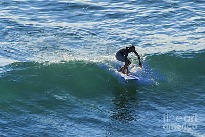 Sports Royalty-Free and Rights-Managed Images - Surfer Chapel Porth Cornwall by Brian Roscorla
