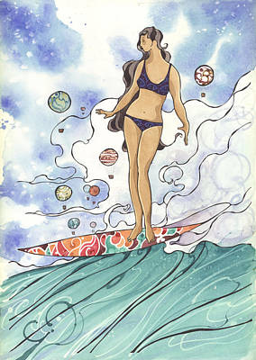 Surfing Art Painting - Surfer Chic  by Harry Holiday