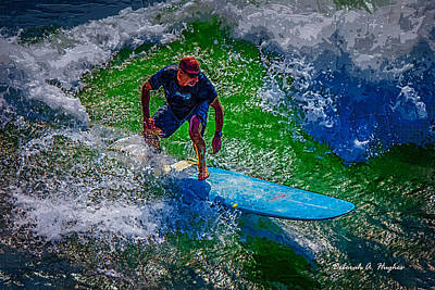 Photograph - Surfer by Deborah Hughes