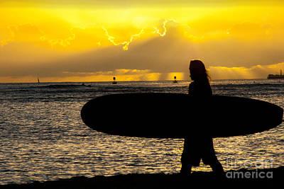 Surfer Dude Art Print by Juli Scalzi