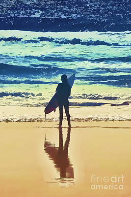 Surfer Girl Art Print