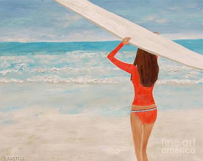 Surfer Girl Painting - Surfer Girl by Sonja Austell