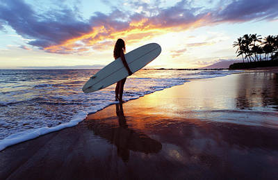 Photograph - Surfer Girl With Reflection by David Olsen