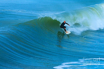 Photograph - Surfer Huntington Beach California by Ram Vasudev