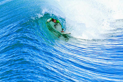 Photograph - Surfer - In The Green Room by Ben Graham