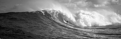 Surfer In The Sea, Maui, Hawaii, Usa Art Print by Panoramic Images
