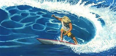 Painting - Surfer by Lance Headlee