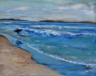 Santa Monica Painting - Surfer by Lindsay Frost