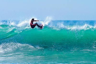 Photograph - Surfer Making Turn by Ben Graham