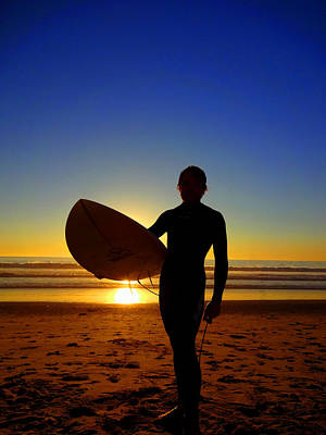 Photograph - Surfer Silhouette by Donna Spadola