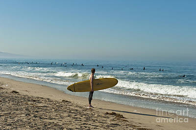 Photograph - Surfer Waiting And Watching Waves by David Zanzinger