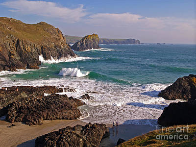 Kynance Cove Photograph - Surfers At Kynance Cove by Alex Cassels