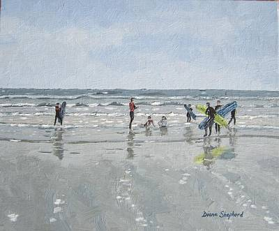 Surfers Art Print by Diana Shephard