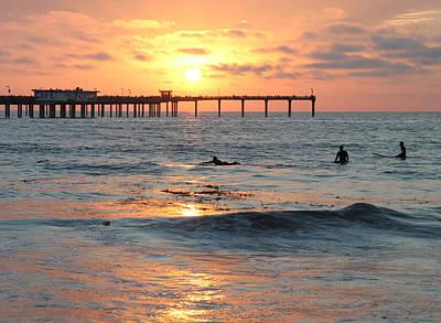 Photograph - Surfers In Ocean Beach by Nathan Rupert