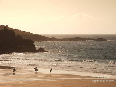 Beach Royalty-Free and Rights-Managed Images - Surfers on beach 03 by Pixel Chimp
