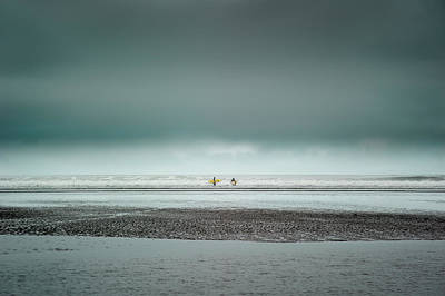Photograph - Surfers by Shuwen Wu