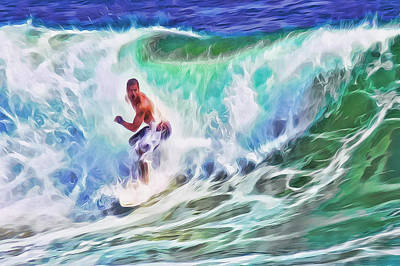 Mixed Media - Surfin Usa by Frank Lee Hawkins