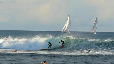 Surfing, Ala Moana, Bowls, Waikiki Art Print