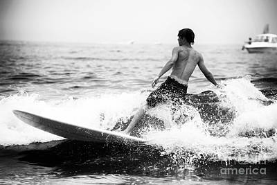 Long Branch Photograph - Surfing At Long Branch by John Rizzuto