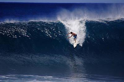 Surfing Backdoor Pipeline Art Print