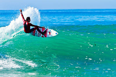 Photograph - Surfing California by Ben Graham