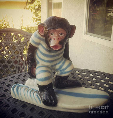 Painting - Surfing Chimp by Gregory Dyer