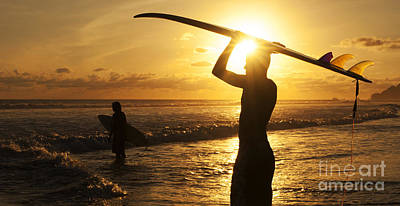 Photograph - Sunset Surfing Corcovado Costa Rica 1 by Bob Christopher
