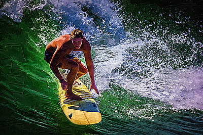 Photograph - Surfing by Deborah Hughes