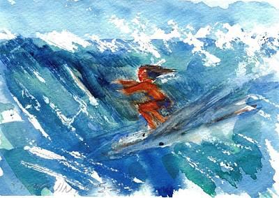 Surfing I Art Print by Ramona Wright