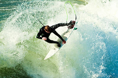 Photograph - Surfing In California 2 by Ben Graham