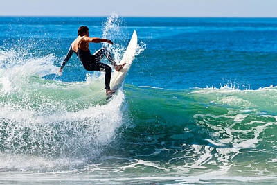 Photograph - Surfing In Carlsbad 2 by Ben Graham