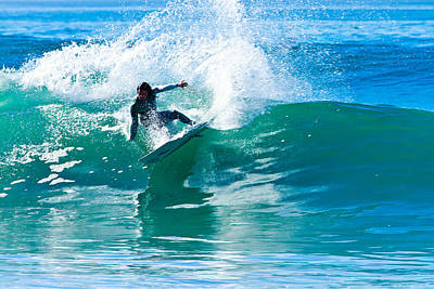 Photograph - Surfing In Carlsbad 5 by Ben Graham