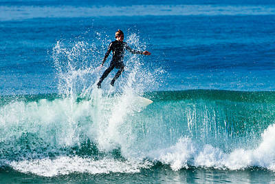 Photograph - Surfing In Carlsbad by Ben Graham