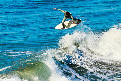 Photograph - Surfing In Oceanside 2 by Ben Graham