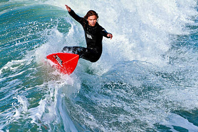 Photograph - Surfing In Oceanside 3 by Ben Graham