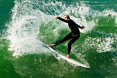 Photograph - Surfing In Oceanside 4 by Ben Graham