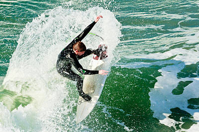 Photograph - Surfing In Oceanside 5 by Ben Graham