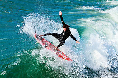 Photograph - Surfing In Oceanside 7 by Ben Graham