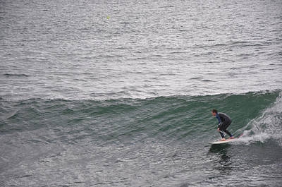 Briex Photograph - Surfing In Porthleven Cornwall by Nop Briex