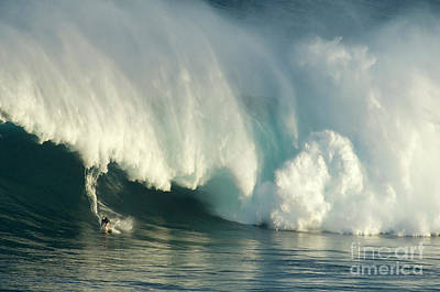 Laird Hamilton Photograph - Surfing Jaws 1 by Bob Christopher