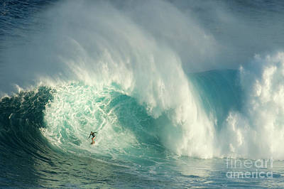 Courage Photograph - Surfing Jaws 3 by Bob Christopher