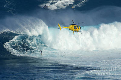 Laird Hamilton Photograph - Surfing Jaws 6 by Bob Christopher