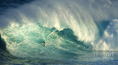 Photograph - Surfing Jaws Hang Loose Brother by Bob Christopher