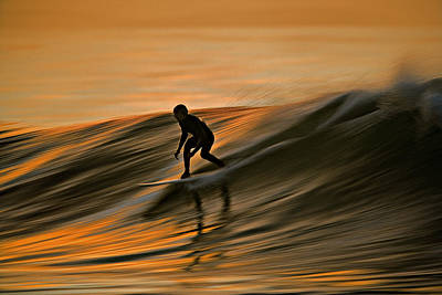 Art Print featuring the photograph Surfing Liquid Copper C6j2144 by David Orias