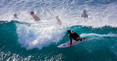 Action Sports Art Photograph - Surfing Maui by Adam Romanowicz