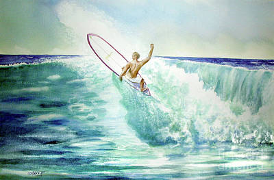 Painting - Surfing California by John Mabry