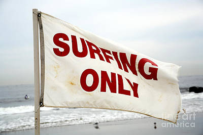 Surfing Only Print by John Rizzuto