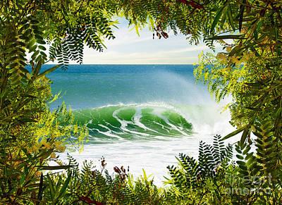 Surfing Paradise Print by Carlos Caetano