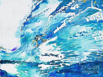 San Clemente Painting - Surfing San Clemente by JC Strong