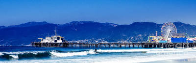 Photograph - Surfing Santa Monica by Julie Clements